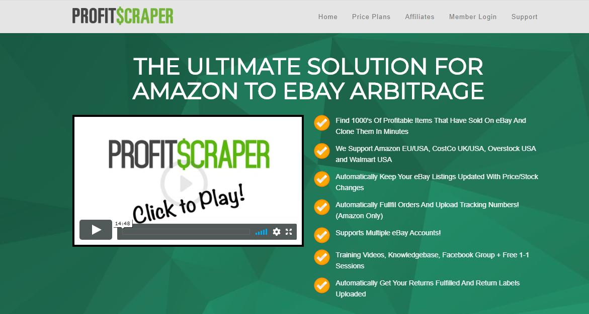 Profitscraper Review Best Ebay Amazon Arbitrage Software Tool 2020 Arbitrage Info